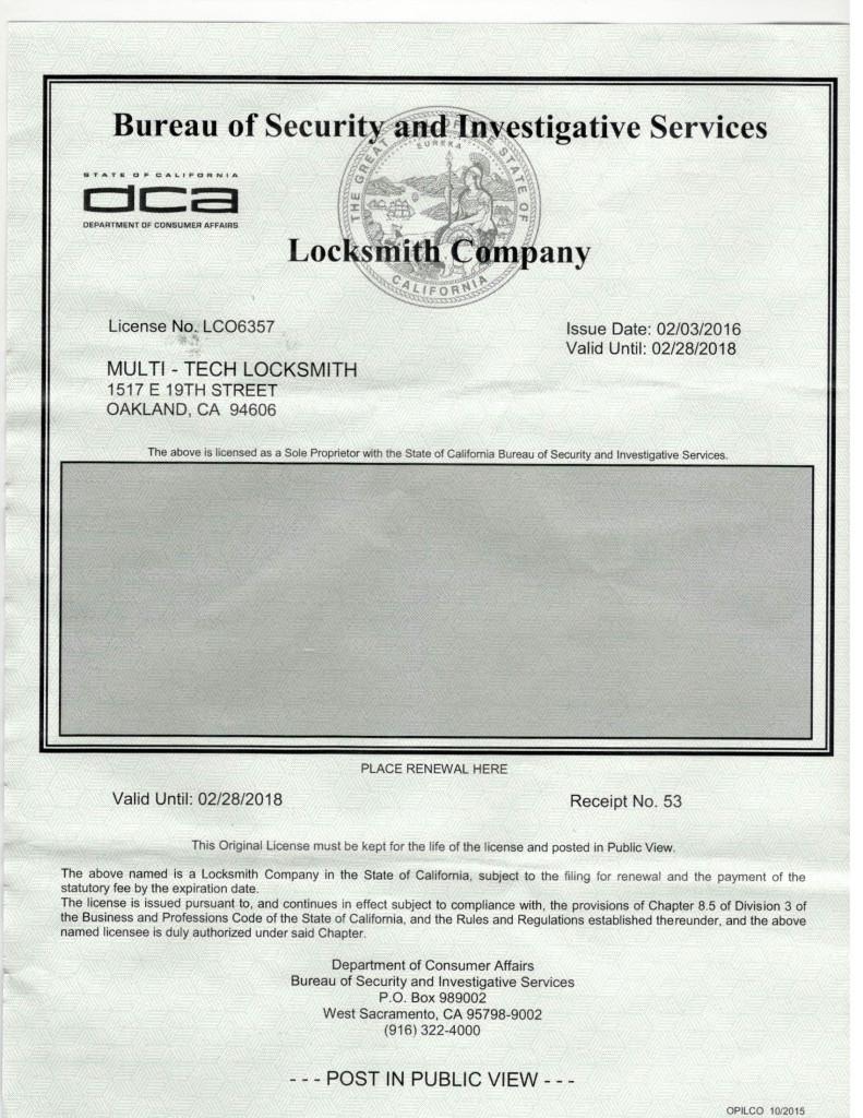 Locksmith-license