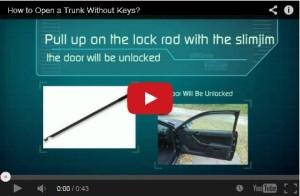 Car trunk open